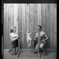 33.-Bodybuilder-Gene-Jantzen-withi-wife-Pat-and-eleven-month-old-son-Kent