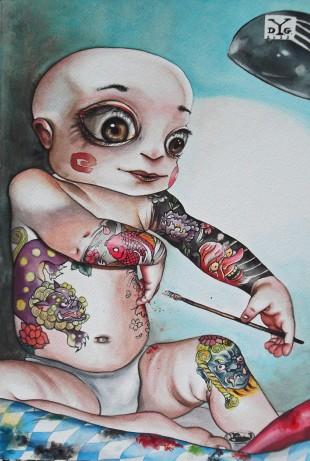 HappyBoy-acquerello.35x50cm