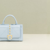 Paula-Cademartori_Fall-Winter-2014-15_Daylily-Hand-Bag_Powder-Blue_nappa_maxi-gold-studs_detail-1280x822
