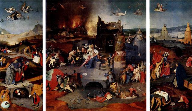 Trittico delle tentazioni di S. Antonio - Hieronymus Bosch