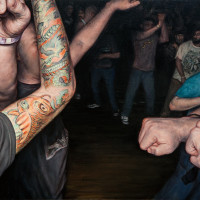 agnostic-front-_crowd-study_-15x20-_2014_oil_on_canvas