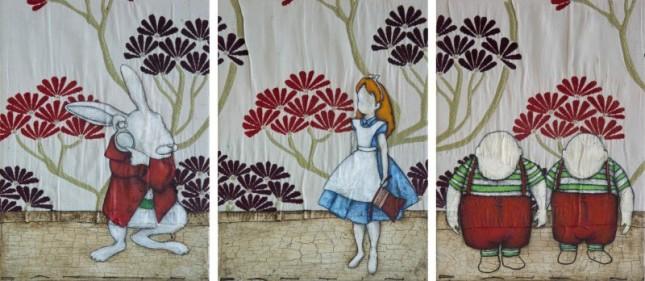 Roberto-Fantini - Alice-in-Wonderland.Trittico