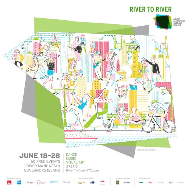 Campagna pubblicitaria del RIVER TO RIVER FESTIVAL di New York