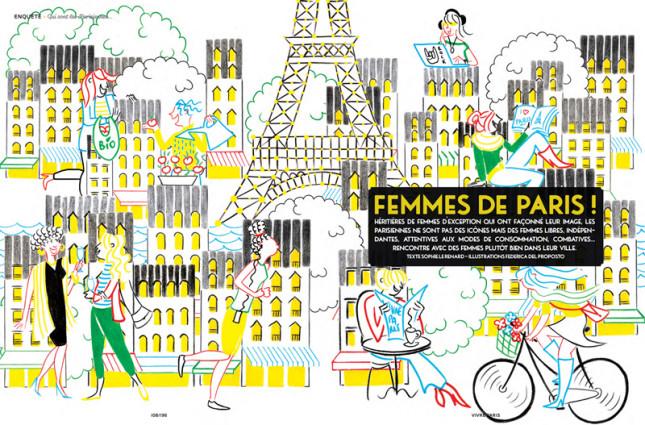 FEMMES DE PARIS - VIVRE PARIS MAGAZINE