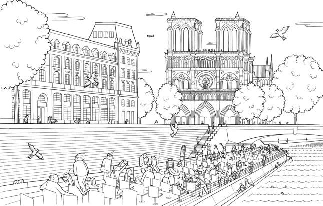 LES BATEAUX-MOUCHES - Album da colorare per adulti - 50 illustrazioni - EDIZIONI LE FIGARO