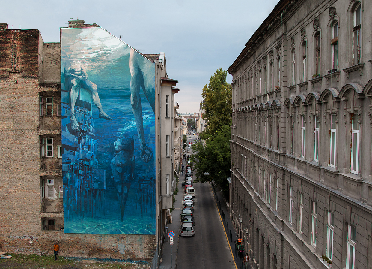 Blue in Green: Sepe e Chazme per il Szines Varos Street Art Festival