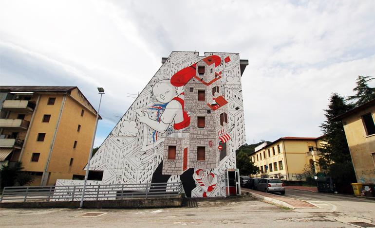 Millo ad Ascoli Piceno per Arte Pubblica Festival